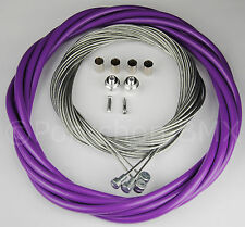 Bicycle 5mm LINED vintage ROAD bike brake cable housing kit  - PURPLE
