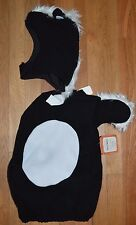 Pottery Barn Baby Kids Halloween Costume Skunk Size: 6 - 12 Months 2 PC Set