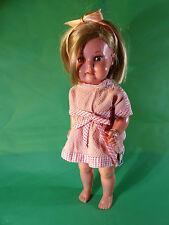 Celluloid Puppe - 1950er Jahre - Kurzhaar Frisur mit Schildkröt Hänger 40/45cm