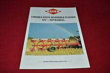 Kuhn HV Integral Variable Width Reversible Plow Ploughs Dealers Brochure LCOH