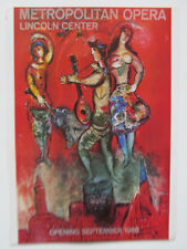 Marc Chagall Reprint  Poster To Dedicate Lincoln Center 16x11  1966 PP
