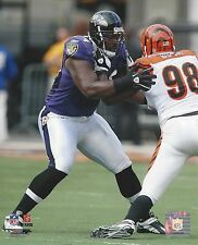 MICHAEL OHER 8X10 PHOTO BALTIMORE RAVENS PICTURE NFL VS BENGALS