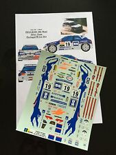 DECALS 1/24 PEUGEOT 306 KIT CAR LOPEZ RALLYE PORTUGAL 1998 RALLY WRC TAMIYA