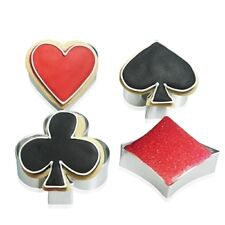 4pcs Poker Cards Game Stainless Cookie Fondant Gum paste Clay Cutter Mold Set