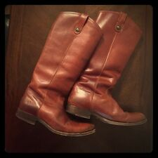 Frye Melissa Button Boots Brown Size 9