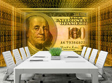 USA Dollars  Wall Mural Photo Wallpaper GIANT WALL DECOR PAPER POSTER FREE GLUE