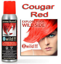 Jerome Russell B WILD TEMPORARY HAIR COLOR SPRAY  COUGAR RED   3.5oz