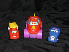 Tonka Playskool Mini Wheel Pals Vehicle Lot: Dump Truck, Tractor, Blue Car