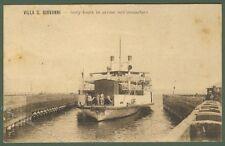 VILLA SAN GIOVANNI, Reggio Calabria. Cartolina d'epoca. Arrivo del Ferry Boats.