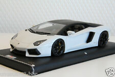 1/18th MR Lamborghini Aventador LP700-4 White/Black Roof Warping Window, BBR