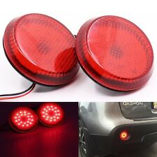 Red LED Tail Rear Bumper Reflector Lights for Scion xB iQ Sienna Corolla Qashqai