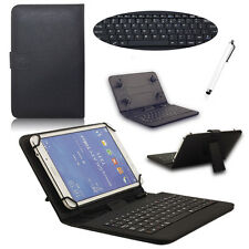"""For Lenovo Tab2 10.1""""A10-30F Tablet Black Micro USB Keyboard+Leather Case Cover"""