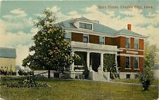 1907-1915 Printed PC; Starr Home, Charles City IA Floyd Co. Unposted Lithochrome