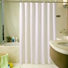 1.8*2.2m Extra Wide Long White Shower Fabric Curtain Bathroom Curtain With Hooks