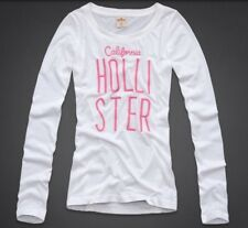 Hollister by Abercrombie WHITE L/S Shirt NEW Small S EL PESCADOR Embroidered Top