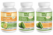 Garcinia Cambogia Extract + 2 Green Coffee Extract Weight Loss Combo (1+2)