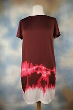 NWT $395 Vince Tie-Dye  Boho Short Sleeve Satin Dress v268850480 Sz 6 S