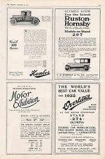 1921 - CAR ADVERTS-HUMBER,RUSTON HORNSBY, OVERLAND, CAR SHOW
