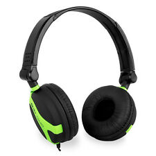 QTX QX40 green filaire casque stéréo pliable DJ GAMING home audio studio iPod