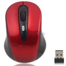 2.4GHz High Quality Wireless Optical Mouse/Mice + USB 2.0 Receiver for PC Red