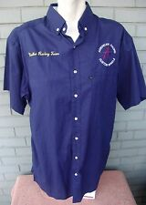 Nadler Racing Team American Custom Wheels Mens Auto Racing Button Shirt Large