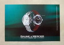 B092-Advertising Pubblicità-1999 - CAPELAND - BAUME & MERCIER - OROLOGI