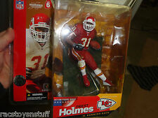 "PRIEST HOLMES KANSAS CITY CHIEFS MCFARLANE 6"" DARK JERSEY, DARK PANTS, MOC"