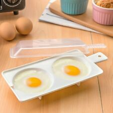 New Microwave Oven Two Egg Poacher Cooker Kitchen Tool Random Color