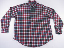 VTG 90S TOMMY HILFIGER SPORTSMAN PLAID CREST L/S BUTTON UP SHIRT HIP HOP OG XL