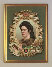 Sisi Sissi  Kaiserin von Österreich K&K Monarchie Faksimile 26 im Goldrahmen