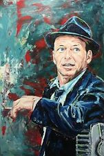 "Frank Sinatra Limited Edition Print 16"" x 20"" with mat Rat Pack Mobsters Icon"