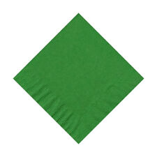 50 Plain Solid Colors Beverage Cocktail Napkins Paper - Emerald/Kelly Green