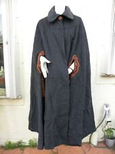 RITZ SADDLER GORGEOUS VINTAGE WOOL ALPACA LONG CLOAK CAPE COAT ITALY ONE SIZE