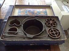 Vintage Griswold No. 3 Party Combination Set Original Box Cast Iron