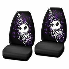 2PC Nightmare Before Christmas Bones Seat Covers HIGH BACK
