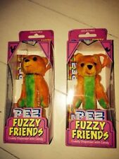 In Box PEZ Dispenser 2000 Collectible Fuzzy Friends TJ Bear Includes Pez Candy
