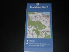 Fahrradkarte Tourenkarte Radwanderungen Deutschland Nord: Fischland-Darß