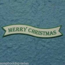 50 x Merry Christmas 7 cm Textfahne Scrapbooking 3-D