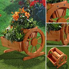 Pflanztrog + Räder und 2 Pflanzkasen Pflanzgefäß Blumenkübel Garten Balkon Holz