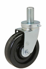 """Threaded Stem Caster: 1-14x2. Phenolic Wheel: 5"""" x 1-1/2"""". Hollymatic Grinder."""