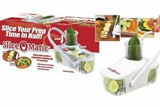 Brand NEW SLICE O MATIC FRUTTA VERDURA SLICER LAME IN ACCIAIO INOX FACILE USO