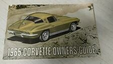 1965 Chevrolet Corvette Owner's Manual First Edition Vintage