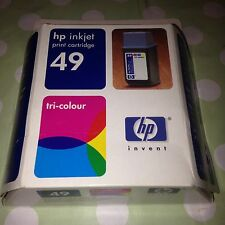 ORIGINAL HP 49 Tri Colour Inkjet Print Cartridge Printer Deskjet Officejet Etc