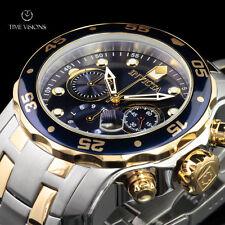 Invicta Men's 48mm Pro Diver Scuba Swiss Chronograph 2-Tone Bracelet Watch 0077