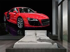 Racing Sport Car Red Black Isolated Wall Mural Photo Wallpaper GIANT WALL DECOR