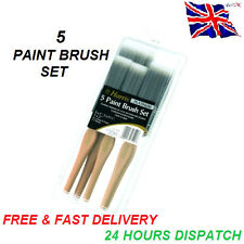 Paint Brush Set Harris Platinum DIY Decorating 5 Brush Pack With Wooden Handles