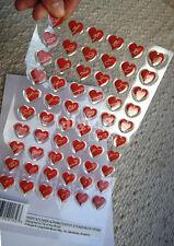 60 RED HEARTS & Fiore alfabeti resina epossidica 3d Adesivo Sticker artigianato giorno S. Valentino