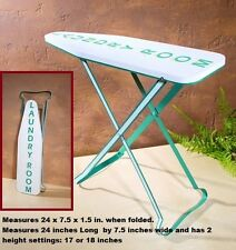 Laundry Room Wall Sign / display as Vintage Style Ironing Board retro bath decor