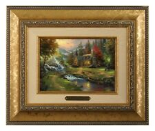 Thomas Kinkade Mountain Paradise - Brushwork (Gold Frame)