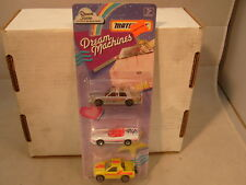 1992 MATCHBOX DREAM MACHINES GIFT SET W/ACTION CUT OUTS ON THE BACK MOC